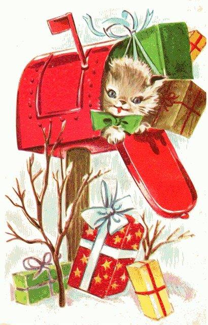 Postkasten Kätzchen