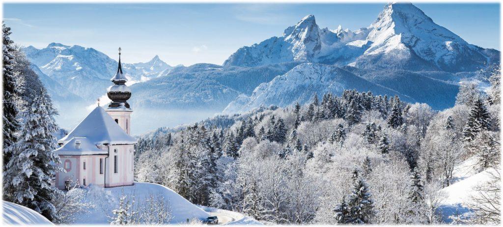 Schneelandschaft zum Nikolaus